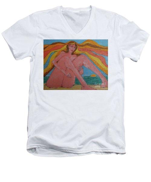 Summer Ocean Breeze  Men's V-Neck T-Shirt