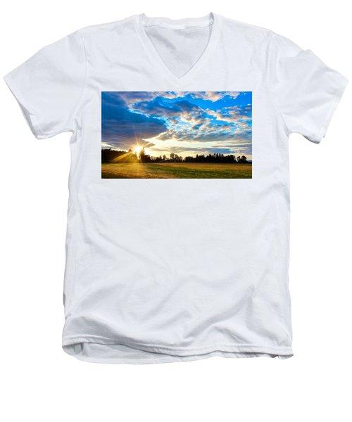 Summer Skies Men's V-Neck T-Shirt