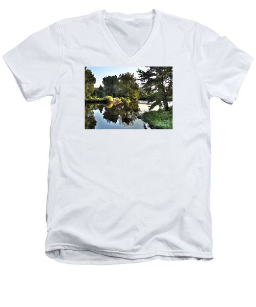 Summer Still Men's V-Neck T-Shirt by Betsy Zimmerli