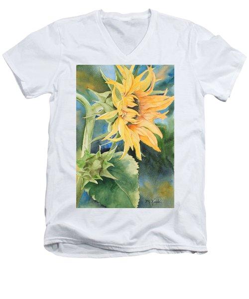 Summer Sunflower Men's V-Neck T-Shirt