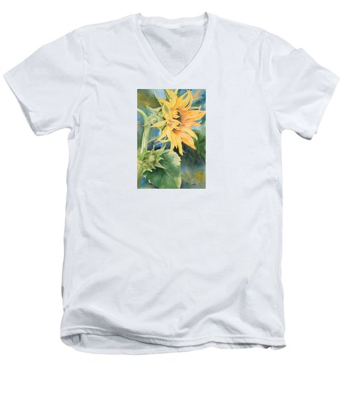 Summer Sunflower Men's V-Neck T-Shirt