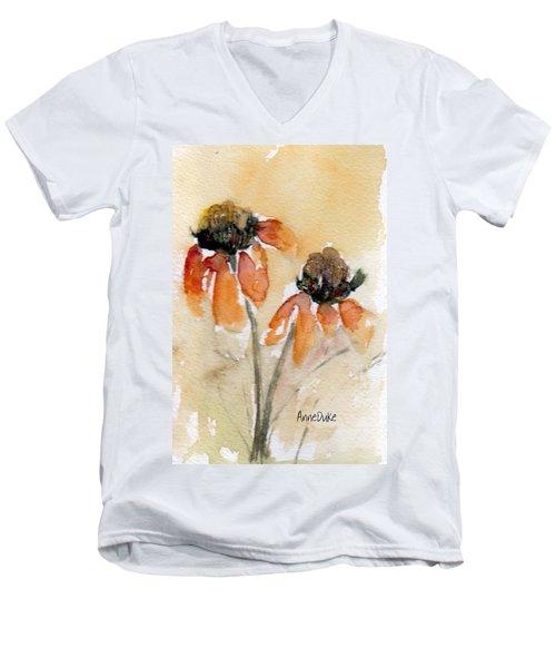 Summer Sunflowers Men's V-Neck T-Shirt by Anne Duke