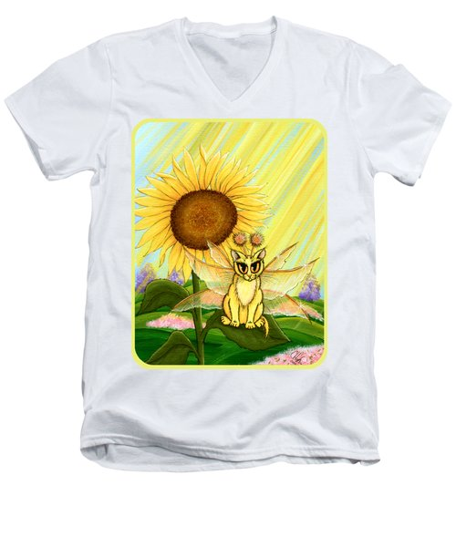Summer Sunshine Fairy Cat Men's V-Neck T-Shirt