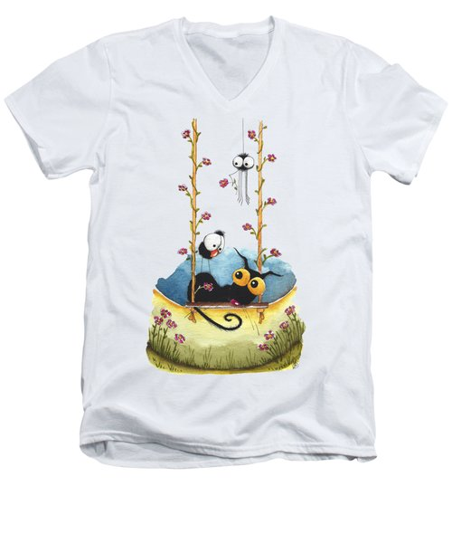 Summer Swing Men's V-Neck T-Shirt