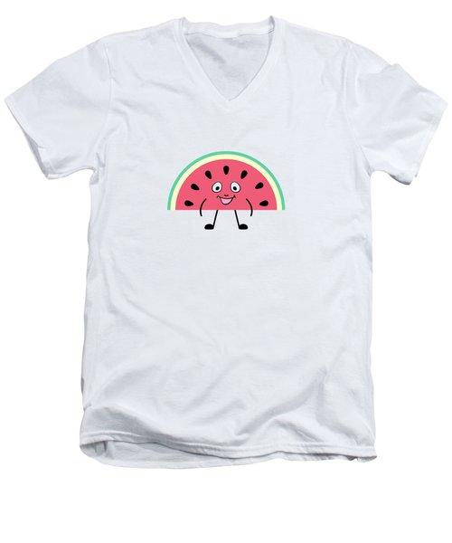 Summer Watermelons Men's V-Neck T-Shirt by Alina Krysko