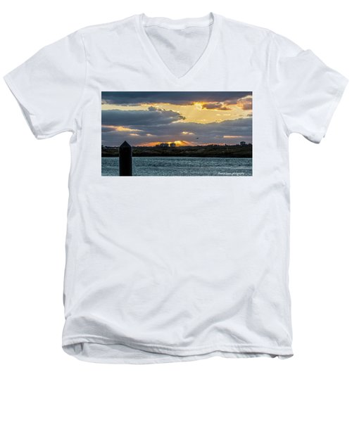 Sun Rays Over The Intracoastal  Men's V-Neck T-Shirt