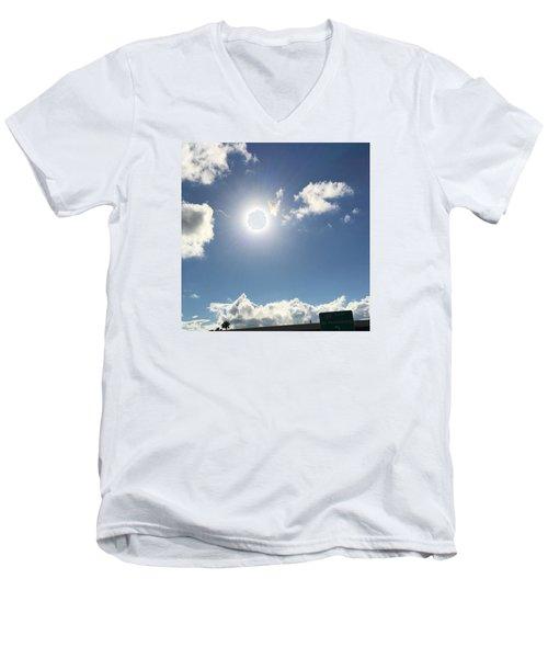 Sun Sky Angel Men's V-Neck T-Shirt