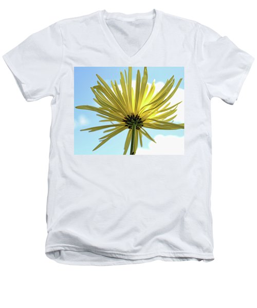 Men's V-Neck T-Shirt featuring the photograph Sunburst by Judy Vincent