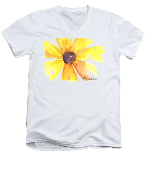 Sunburst Men's V-Neck T-Shirt by Kathleen McElwaine