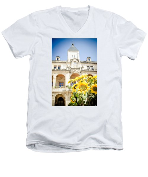 Men's V-Neck T-Shirt featuring the photograph Sunflower by Jason Smith