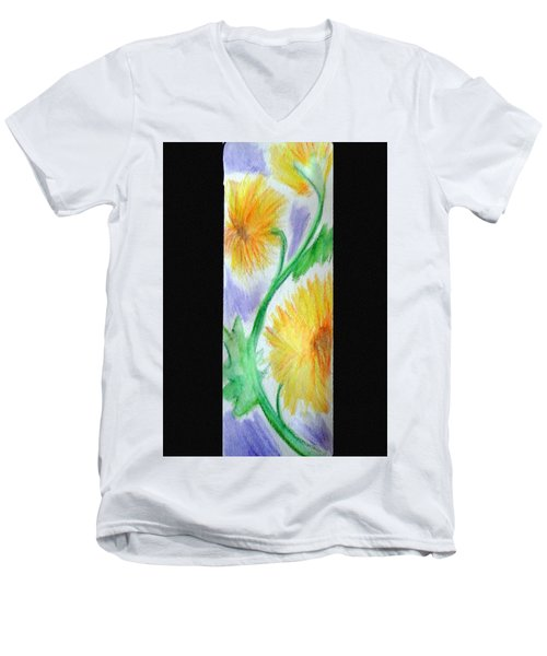 Sunflowers 27 Men's V-Neck T-Shirt