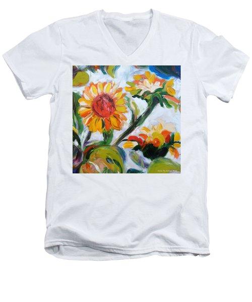 Sunflowers 5 Men's V-Neck T-Shirt