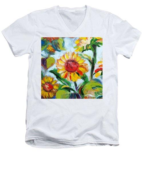 Sunflowers 6 Men's V-Neck T-Shirt