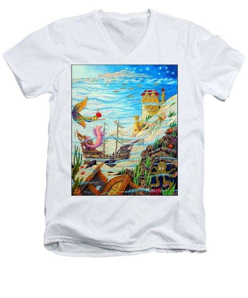 Sunken Ships Men's V-Neck T-Shirt