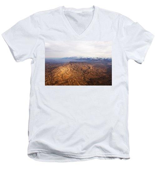 Sunlight And Snow-capped Peaks Men's V-Neck T-Shirt