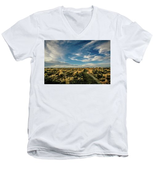Men's V-Neck T-Shirt featuring the photograph Sunlight For Photographers by Marilyn Hunt