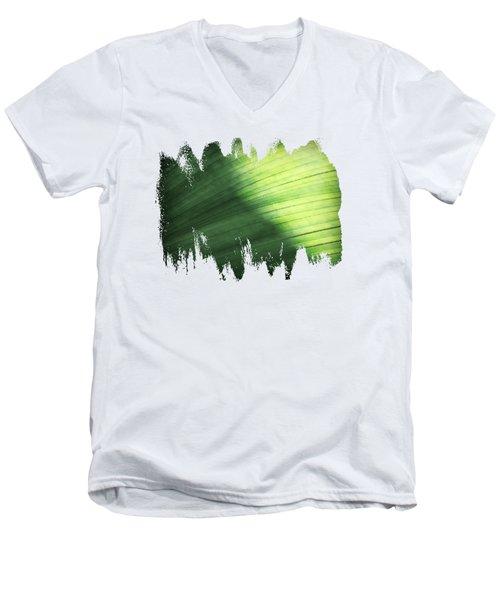 Sunlit Palm Men's V-Neck T-Shirt by Anita Faye