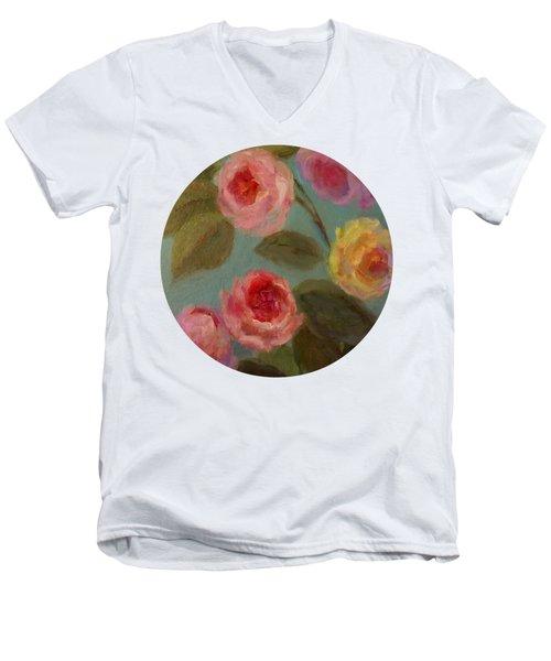 Sunlit Roses Men's V-Neck T-Shirt