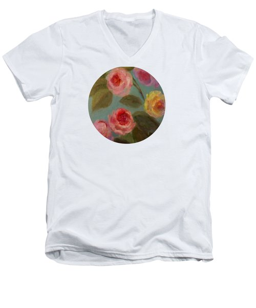 Sunlit Roses Men's V-Neck T-Shirt
