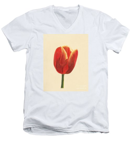 Sunlit Tulip Men's V-Neck T-Shirt by Phyllis Howard