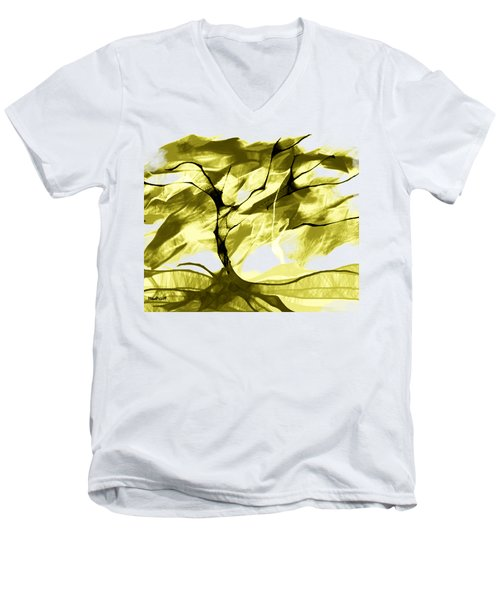 Men's V-Neck T-Shirt featuring the digital art Sunny Day by Asok Mukhopadhyay