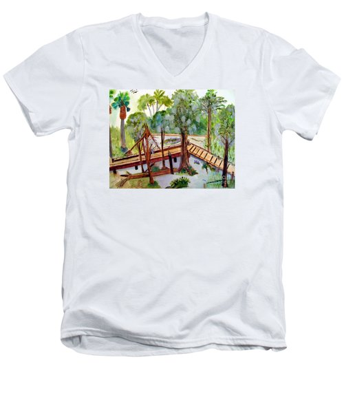 Sunny Day In Central Florida Men's V-Neck T-Shirt by Sandy McIntire