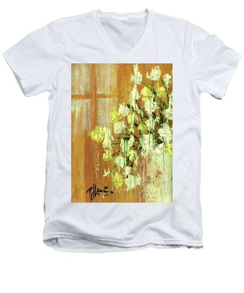 Sunny Flowers Men's V-Neck T-Shirt