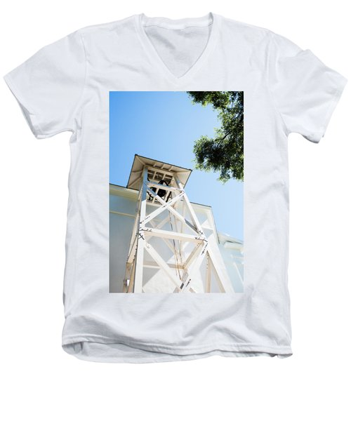 Men's V-Neck T-Shirt featuring the photograph Sunny Game Day In Athens by Parker Cunningham