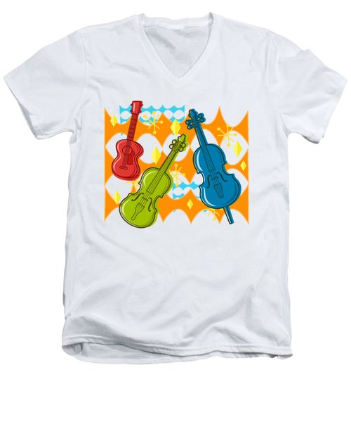 Sunny Grappelli String Jazz Trio Composition Men's V-Neck T-Shirt