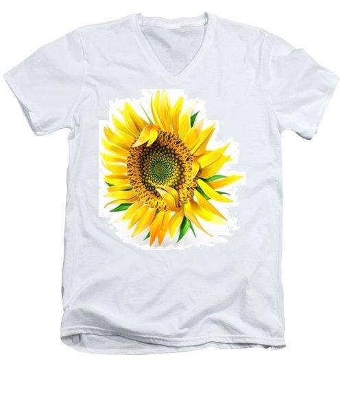 Sunny Men's V-Neck T-Shirt by Now