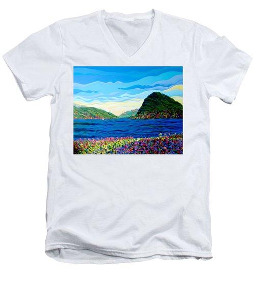 Sunny Swiss-scape Men's V-Neck T-Shirt