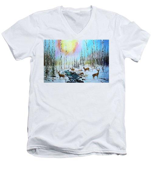 Sunny Winter Men's V-Neck T-Shirt