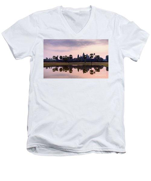 Sunrise At Angkor Wat Men's V-Neck T-Shirt