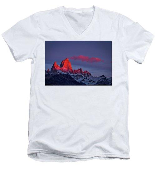 Sunrise At Fitz Roy #3 - Patagonia Men's V-Neck T-Shirt