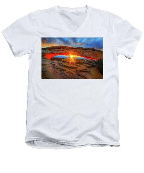 Sunrise At Mesa Arch Men's V-Neck T-Shirt