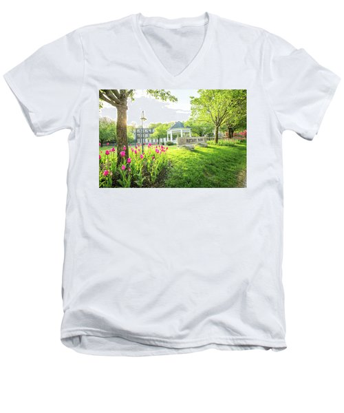 Sunrise At Rotary Park Men's V-Neck T-Shirt