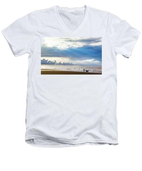 Sunrise Beach Fishing Men's V-Neck T-Shirt