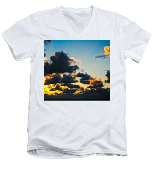 Sunrise On The Atlantic #14 Men's V-Neck T-Shirt