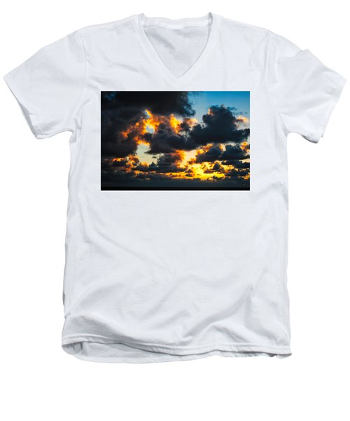 Sunrise On The Atlantic #15 Men's V-Neck T-Shirt