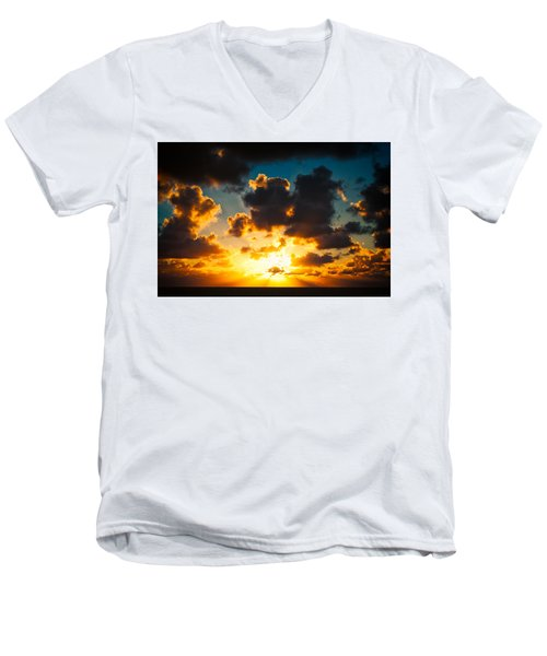 Sunrise On The Atlantic #19 Men's V-Neck T-Shirt