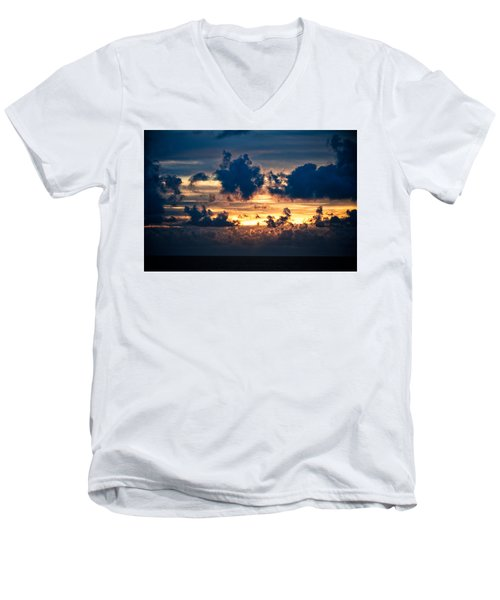 Sunrise On The Atlantic #28 Men's V-Neck T-Shirt