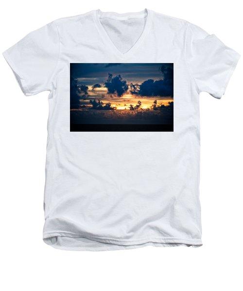 Sunrise On The Atlantic #28 Men's V-Neck T-Shirt