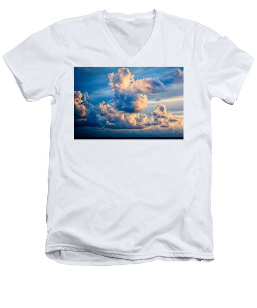 Sunrise On The Atlantic #31 Men's V-Neck T-Shirt