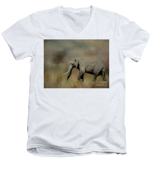 Sunrise On The Savannah Men's V-Neck T-Shirt