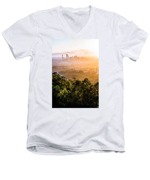 Sunrise Over Brisbane Men's V-Neck T-Shirt