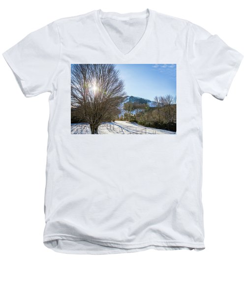 Sunrise Over Cataloochee Ski Men's V-Neck T-Shirt
