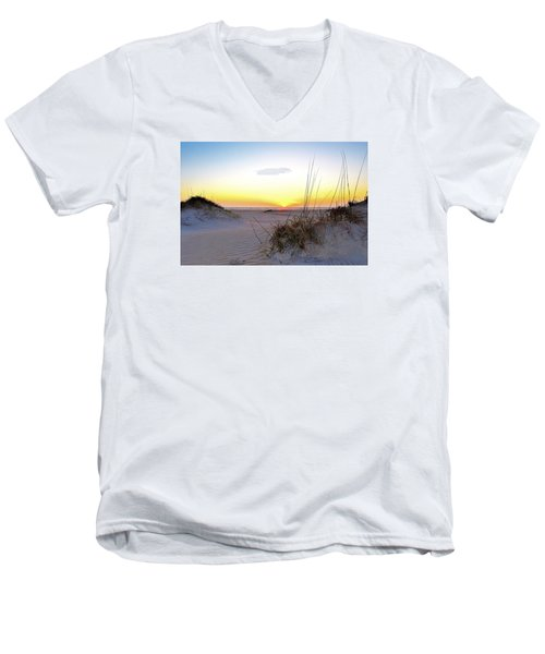 Sunrise Over Pea Island Men's V-Neck T-Shirt