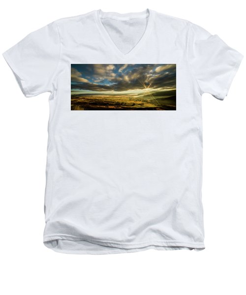 Sunrise Over The Heber Valley Men's V-Neck T-Shirt