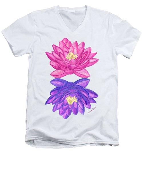 Sunrise Sunset Lotus Men's V-Neck T-Shirt