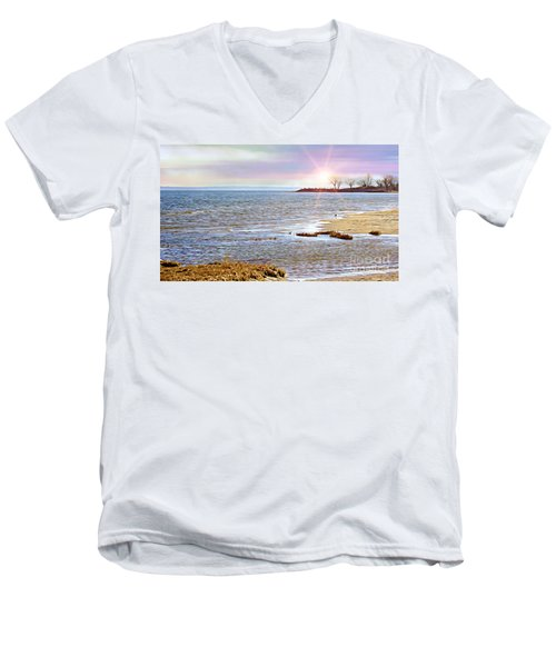 Sunset At The Beach - Tod's Point Men's V-Neck T-Shirt